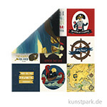 Pirate Tales Scrappapier - 4x4 Journaling Cards