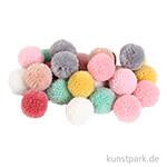 Pompon Set aus Garn - Pastell Mix