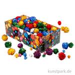 Pompons-Mix Glitzer, Größe 15-40 mm, 400 Stück sortiert