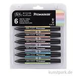 ProMarker - Winsor & Newton 6er Set, Pastelltöne