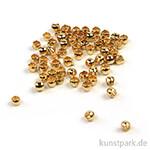 Quetschperle - Gold innen 0,8 außen 1,5 - 40 Stück
