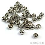Quetschperle - Platin innen 1,8 außen 2,5 - 45 Stück