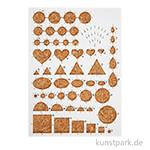 Quilling Board - Schablone mit Korkunterlage, 21x15 cm