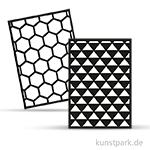 Rayher Schablonen-Set 2 DIN A5, selbstklebend, 2 Designs