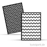 Rayher Schablonen-Set 3 DIN A5, selbstklebend, 2 Designs