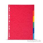 Register aus Karton, DIN A4, 220g, 6 Stück farbig sortiert