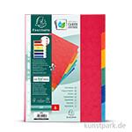 Register aus Manilakarton, DIN A4, 225g, 6 Stück farbig sortiert