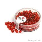 Rocailles mit Silbereinzug - 4 mm 17 g Dose | Rot
