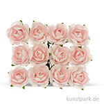 Röschen mit Draht, 18 mm 12 Stk. | Rosa
