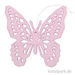 Rosé Schmetterling aus Holz mit Hänger, Länge 15 cm