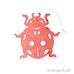 Roter Marienkäfer aus Holz mit Hänger, Länge 10 cm