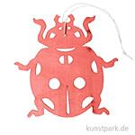 Roter Marienkäfer aus Holz mit Hänger, Länge 12 cm