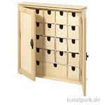 Sammelschränkchen aus Holz mit 24 Schubladen, 30,2x7,2x30,3 cm
