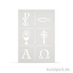 Schablone DIN A4 - Christliche Symbole