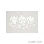 Schablone DIN A4 - Sweet Cupcakes