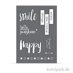Schablone - Smile, mit Rakel