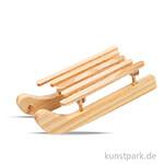 Schlitten aus Holz, Größe 6,5x2,5 cm, 6 Stück