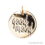 Schmuck-Anhänger Scheibe - Good Mood, Gold