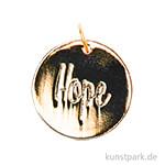Schmuck-Anhänger Scheibe - Hope, Gold