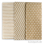 Seidenpapier, 50x70 cm, 17 g, 6 Blatt - Gold Mix
