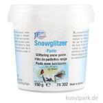 Snowglitzerpaste mit microfeinen Silberkristallen