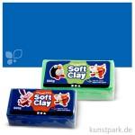 Soft Clay - weiche, geschmeidige Knetmasse 500 g   Blau
