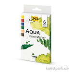Solo Goya AQUA Paint Marker 6er Set - Warm Colors