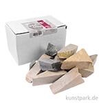 Speckstein BOX 1,5 kg, 10-15 Rohsteine - ideal für Gruppen & Klassen