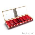 Specksteinmeißel Set BASIC Nr. 1, im Holzkästchen