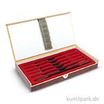 Specksteinmeißel Set BASIC Nr. 2 im Holzkästchen