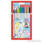 STABILO Pen 68 brush | 12er Kartonetui