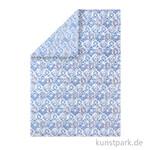 Stamperia Reispapier - Blue tile, DIN A3, Einzelblatt