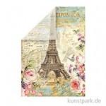 Stamperia Reispapier - Paris Tour Eiffel, 48 x 33 cm, Einzelblatt