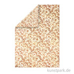Stamperia Reispapier - Wallpaper flowers & leaves, DIN A3, Einzelblatt