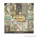 Stamperia Scrapbooking Pad - Alchemy, 30,5 x 30,5 cm, 10 Blatt