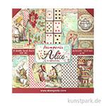 Stamperia Scrapbooking Pad - Alice, 30,5 x 30,5 cm, 10 Blätter