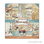 Stamperia Scrapbooking Pad - Around the World, 30,5 x 30,5 cm, 10 Blatt