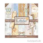 Stamperia Scrapbooking Pad - Atelier, 30,5 x 30,5 cm, 10 Blatt