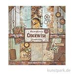 Stamperia Scrapbooking Pad - Clockwise, 30,5 x 30,5 cm, 10 Blatt