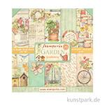 Stamperia Scrapbooking Pad - Garden, 30,5 x 30,5 cm, 10 Blatt