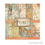 Stamperia Scrapbooking Pad - Time is Illusion, 30,5x30,5 cm, 10 Blatt