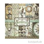 Stamperia Scrapbooking Pad - Voyages Fantastiques, 30,5 x 30,5 cm, 10 Blätter