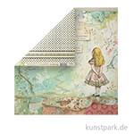 Stamperia Scrappapier - Alice, 30,5 x 30,5 cm, 190g