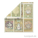 Stamperia Scrappapier - Tea Time, 30,5 x 30,5 cm, 190g