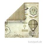 Stamperia Scrappapier - Voyages Fantastiques Air Baloon, 30,5 x 30,5 cm, 190g
