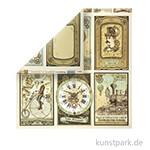 Stamperia Scrappapier - Voyages Fantastiques Cards, 30,5 x 30,5 cm, 190g