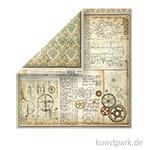 Stamperia Scrappapier - Voyages Fantastiques Gears, 30,5 x 30,5 cm, 190g