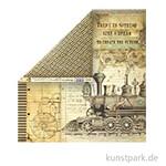 Stamperia Scrappapier - Voyages Fantastiques Stream Train, 30,5 x 30,5 cm, 190g
