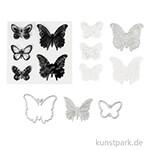 Stanz- und Stempelform - Schmetterlinge, Größe 3,5-5,5 cm