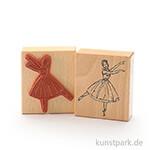 Stempel - Ballerina auf einem Bein - 7x8 cm